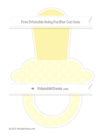 Free Cream Dotted Pattern Extra Large Baby Pacifier Cut Outs