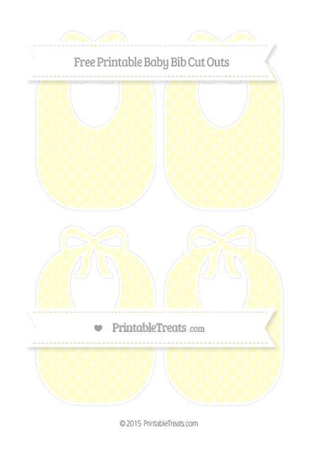 Free Cream Dotted Pattern Medium Baby Bib Cut Outs