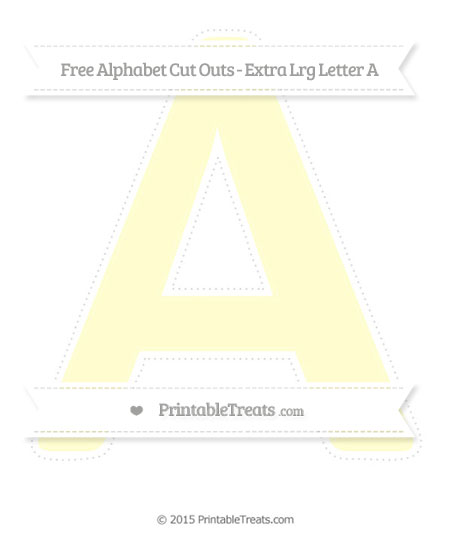 Free Cream Extra Large Capital Letter A Cut Outs