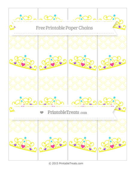 Free Cream Fish Scale Pattern Princess Tiara Paper Chains