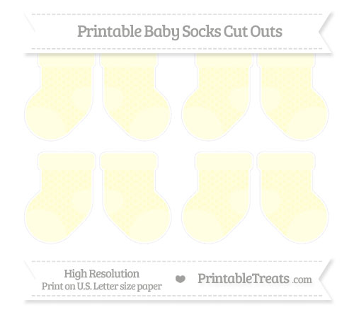 Free Cream Fish Scale Pattern Small Baby Socks Cut Outs