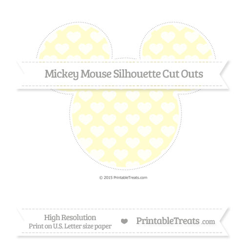 Free Cream Heart Pattern Extra Large Mickey Mouse Silhouette Cut Outs