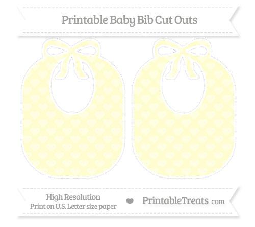 Free Cream Heart Pattern Large Baby Bib Cut Outs