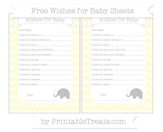 Free Cream Herringbone Pattern Baby Elephant Wishes for Baby Sheets