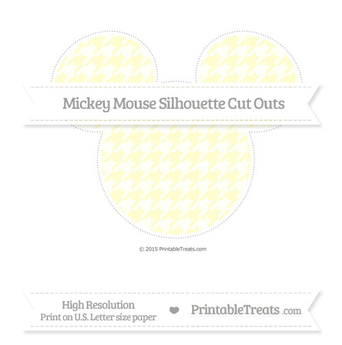 Free Cream Houndstooth Pattern Extra Large Mickey Mouse Silhouette Cut Outs