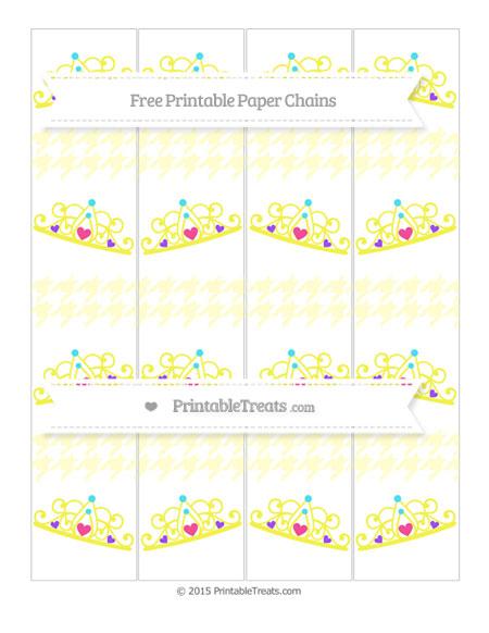 Free Cream Houndstooth Pattern Princess Tiara Paper Chains