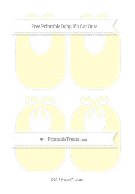 Free Cream Medium Baby Bib Cut Outs