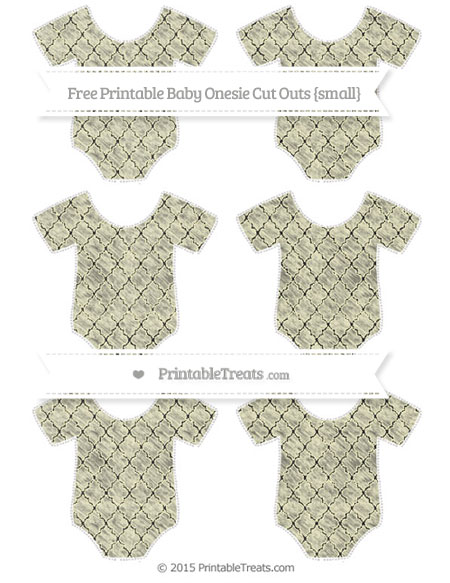 Free Cream Moroccan Tile Chalk Style Small Baby Onesie Cut Outs