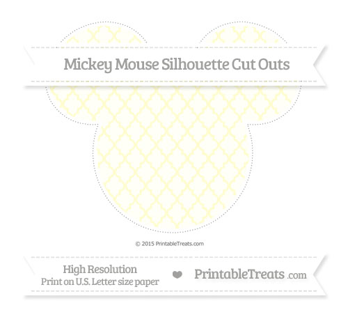 Free Cream Moroccan Tile Extra Large Mickey Mouse Silhouette Cut Outs