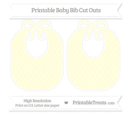 Free Cream Moroccan Tile Large Baby Bib Cut Outs