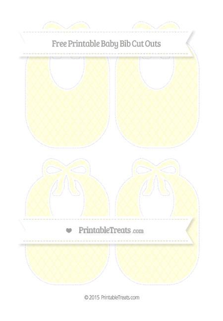 Free Cream Moroccan Tile Medium Baby Bib Cut Outs