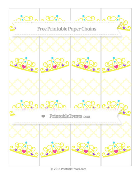 Free Cream Moroccan Tile Princess Tiara Paper Chains