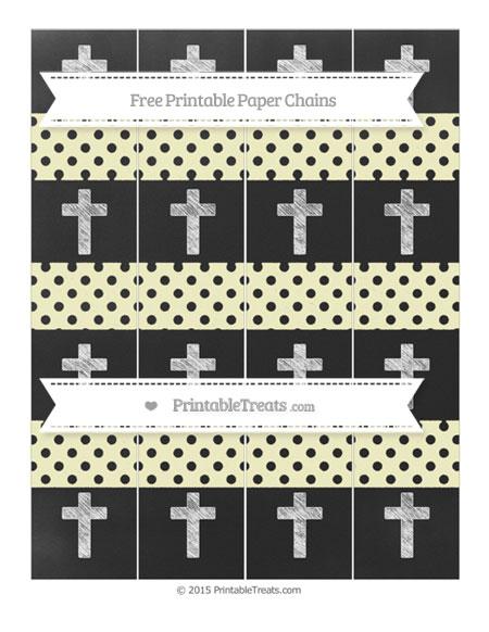 Free Cream Polka Dot Chalk Style Cross Paper Chains