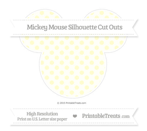 Free Cream Polka Dot Extra Large Mickey Mouse Silhouette Cut Outs