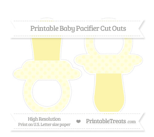 Free Cream Polka Dot Large Baby Pacifier Cut Outs
