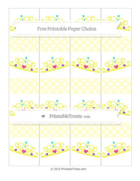 Free Cream Polka Dot Princess Tiara Paper Chains