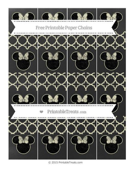 Free Cream Quatrefoil Pattern Chalk Style Minnie Mouse Paper Chains