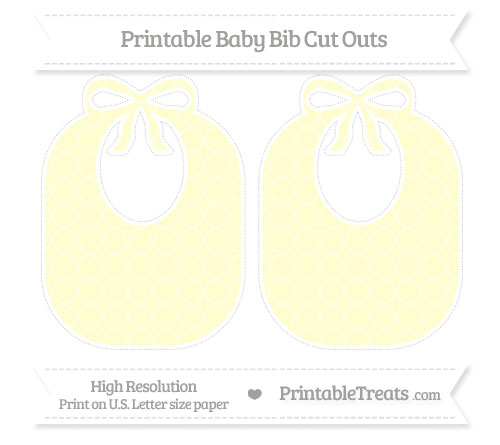 Free Cream Quatrefoil Pattern Large Baby Bib Cut Outs