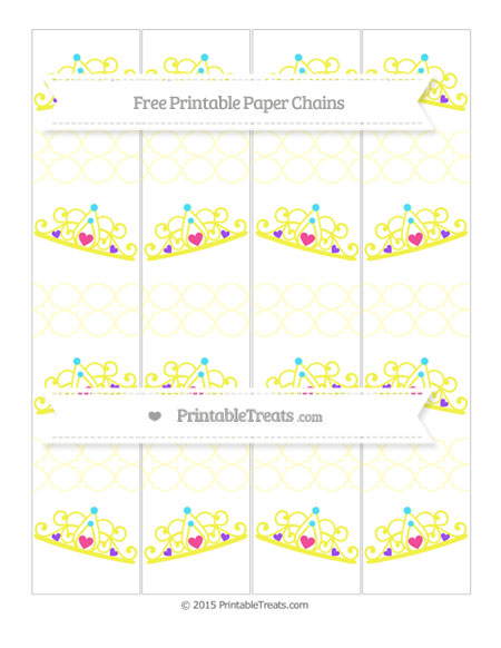 Free Cream Quatrefoil Pattern Princess Tiara Paper Chains