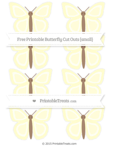 Free Cream Small Butterfly Cut Outs