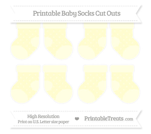 Free Cream Star Pattern Small Baby Socks Cut Outs