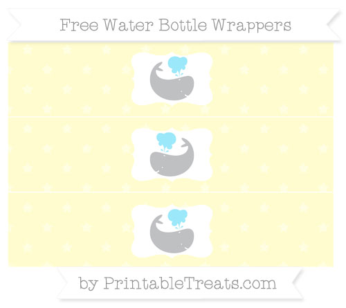 Free Cream Star Pattern Whale Water Bottle Wrappers