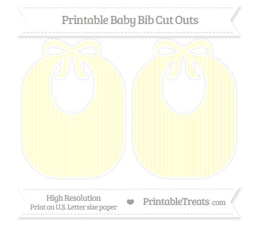 Free Cream Thin Striped Pattern Large Baby Bib Cut Outs