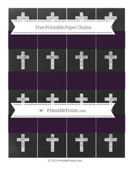 Free Dark Purple Chalk Style Cross Paper Chains