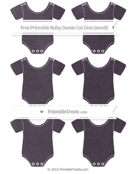 Free Dark Purple Chalk Style Small Baby Onesie Cut Outs