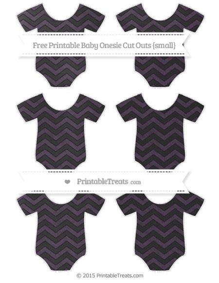Free Dark Purple Chevron Chalk Style Small Baby Onesie Cut Outs