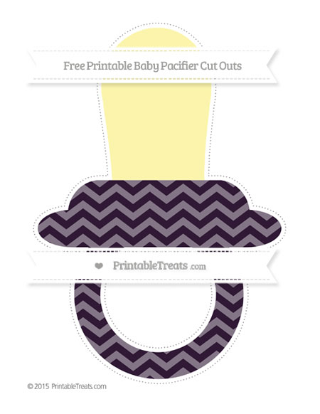 Free Dark Purple Chevron Extra Large Baby Pacifier Cut Outs