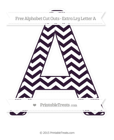 Free Dark Purple Chevron Extra Large Capital Letter A Cut Outs