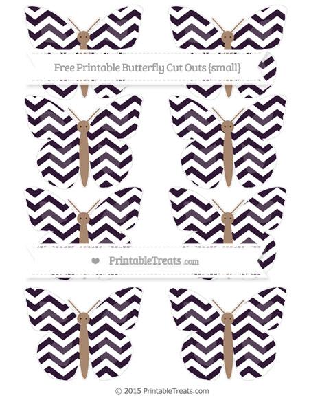 Free Dark Purple Chevron Small Butterfly Cut Outs