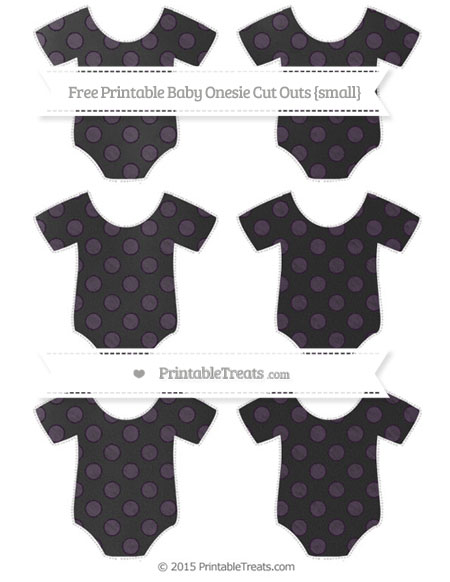 Free Dark Purple Dotted Pattern Chalk Style Small Baby Onesie Cut Outs