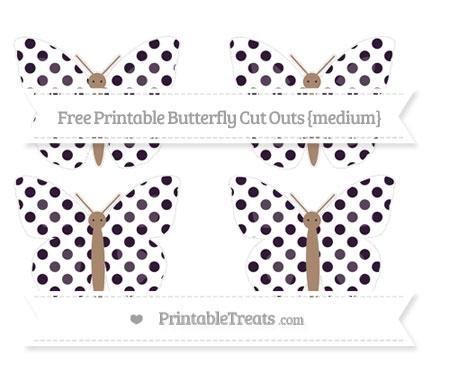 Free Dark Purple Dotted Pattern Medium Butterfly Cut Outs