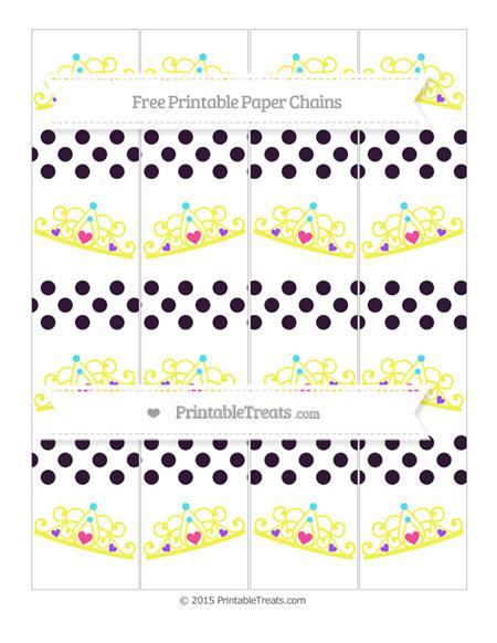 Free Dark Purple Dotted Pattern Princess Tiara Paper Chains