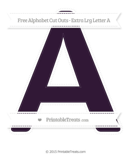 Free Dark Purple Extra Large Capital Letter A Cut Outs