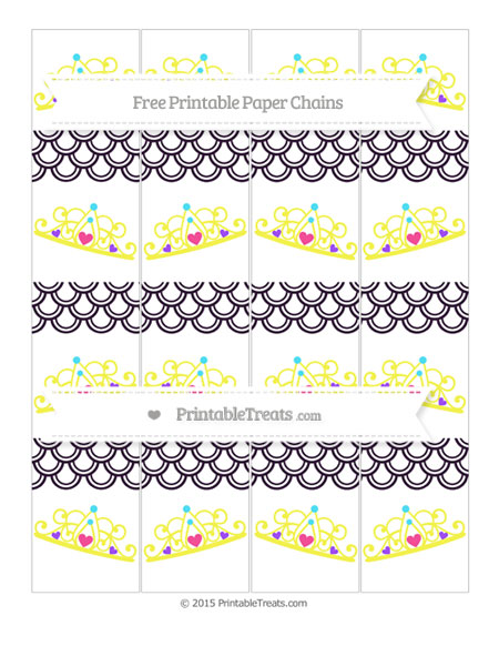 Free Dark Purple Fish Scale Pattern Princess Tiara Paper Chains