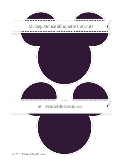 Free Dark Purple Large Mickey Mouse Silhouette Cut Outs