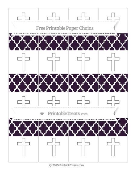 Free Dark Purple Moroccan Tile Cross Paper Chains