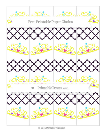 Free Dark Purple Moroccan Tile Princess Tiara Paper Chains