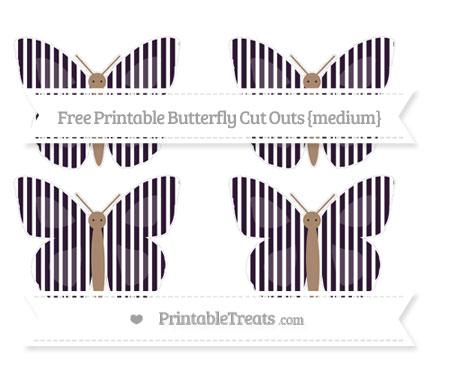 Free Dark Purple Thin Striped Pattern Medium Butterfly Cut Outs