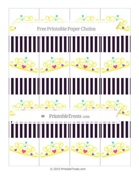 Free Dark Purple Thin Striped Pattern Princess Tiara Paper Chains