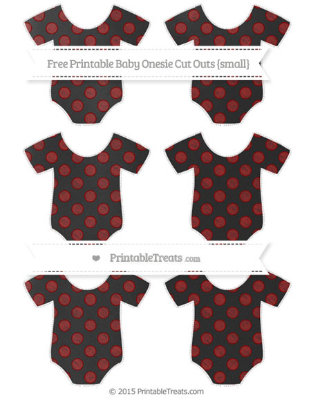 Free Dark Red Dotted Pattern Chalk Style Small Baby Onesie Cut Outs