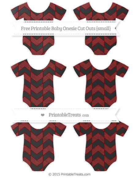 Free Dark Red Herringbone Pattern Chalk Style Small Baby Onesie Cut Outs