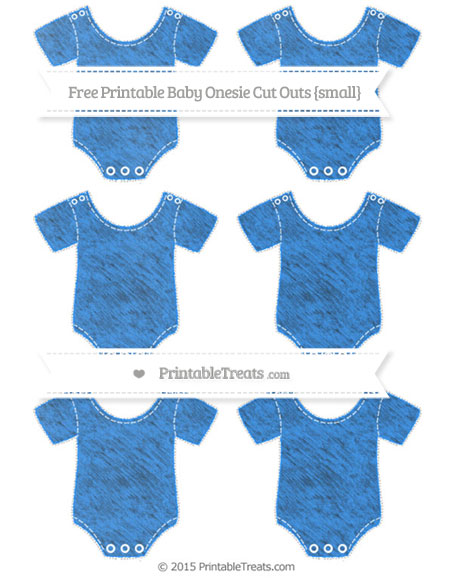 Free Dodger Blue Chalk Style Small Baby Onesie Cut Outs