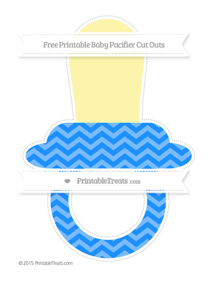 Free Dodger Blue Chevron Extra Large Baby Pacifier Cut Outs