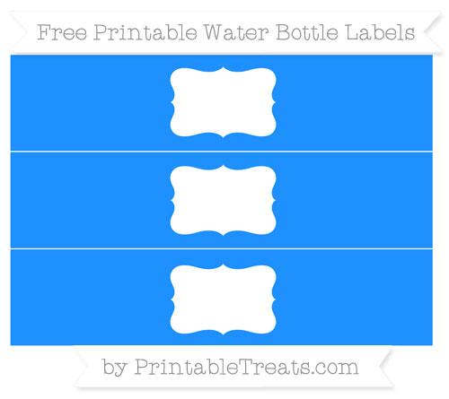 Free Dodger Blue Water Bottle Labels