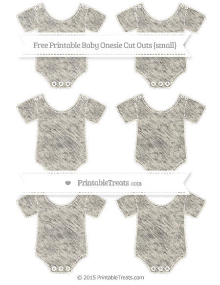 Free Eggshell Chalk Style Small Baby Onesie Cut Outs