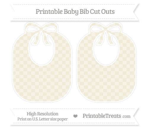 Free Eggshell Checker Pattern Large Baby Bib Cut Outs